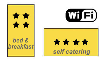 AA 4 Star Self Catering and Breakfast Gold Award